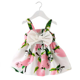 $enCountryForm.capitalKeyWord UK - Baby Girl Clothes Lemon Printed Infant Outfit Sleeveless Princess Gallus Dress
