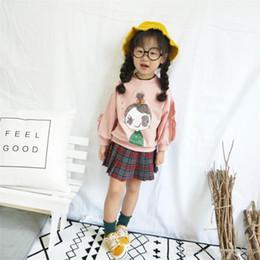 $enCountryForm.capitalKeyWord NZ - 2018 New Spring Autumn Girls Sweater Children Korean Female Baby Flower Side Sleeve Doll Head O-neck Sweater Girl's Clothing Online Fre