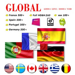 android live tv box UK - IP Box TV Subscription M3U with 7000+live French USA CA UK Germany Italy Spain Portugal Abonnement For smart tv Mag Android tv box