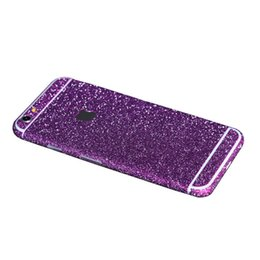 Chinese  Sticker bling glitter full body sticker front and back film protector skin for apple iphone 6 plus 5.5 inch manufacturers