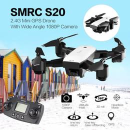 Discount gyro helicopter camera - SMRC S20 6 Axles Gyro FPV 720 1080P Wide Angle Camera Mini Drone Portable RC Quadrocopter Folding RC Helicopter Portable