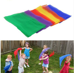 Golf Game Toy Australia - colorful Children gymnastics scarves for outdoor game toys Kids Child parent interactive handkerchief educational toys 20colors to choose