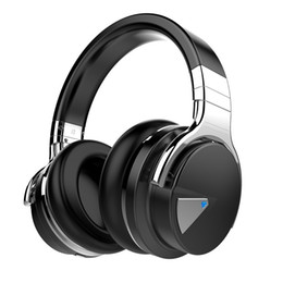 wireless noise cancelling ear headphones UK - E7 Active Noise Cancelling Headphones Bluetooth Headphones with Mic Deep Bass Wireless Headphones Over Ear, Comfortable Protein Earpads
