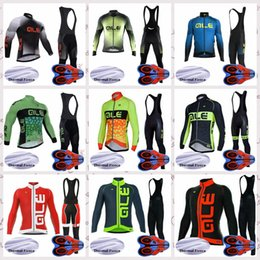 $enCountryForm.capitalKeyWord Australia - ALE team Cycling long Sleeves jersey Winter Thermal Fleece mens riding bib pants sets Outdoors Mountain bike Cycling sportswear Q82122