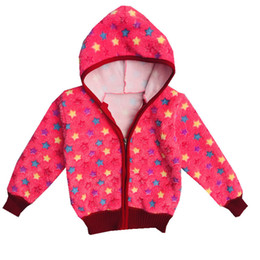 $enCountryForm.capitalKeyWord Australia - Manji Baby Outerwear Girl Clothes For 1-3y New Fashion Style Flannel Material Girls Coats Hooded 18091 Baby Jackets