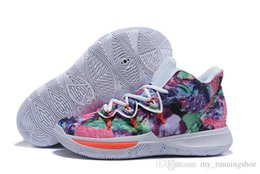 art for sale cheap UK - 2019 New Kyrie 5 Men Basketball Shoes for Cheap Sale Irving 5s CNY Multi-Color Black White University Red Bruce Sneakers Sports Trainers