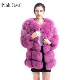 long army skirt Canada - pink java QC8078 BIG SALE FREE SHIPPING all real photos women winter real fox fur coat long sleeves fox fur jacket T200106