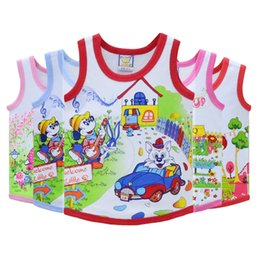 baby boy sleeveless top Australia - Children Tops for 2-4 years old baby 100% Cotton Little Q Sleeveless 5 Pieces lot Shirts 2019 Boys and Girls Clothing