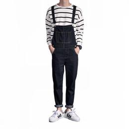 1439bd42e3cf Fashion men Denim bib pant spring Couple overalls jumpsuits One-piece jeans  Casual mens British style slim pocket Pencil pants