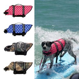 swimsuit rings 2019 - Pet Summer Swimsuit with D Ring for Leash Dogs Reflective Life Dog Jacket Sailing Swimming Float Vest Pet Safety Vest di