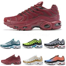$enCountryForm.capitalKeyWord NZ - Hot 2019 Air Plus Shoes Cheap Men Tn Plus Running Shoes New Design Black White Chaussures Tn QS Red Sneakers Sports Trainers Zapatillaes