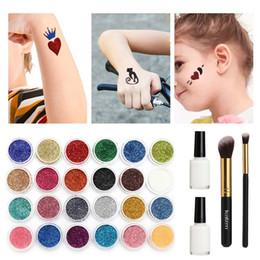 $enCountryForm.capitalKeyWord Australia - Best Deal ! 2018 New 24 Glitter Colors Tattoo Kit Make Up Body Glitter Body Art Design For People