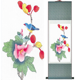 $enCountryForm.capitalKeyWord Australia - Wholesale Price Traditional Birds And Flower Painting Spring Ink Wash Painting Silk Scroll Birds And Flower 2019061510