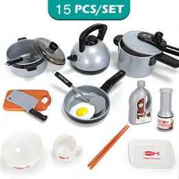 $enCountryForm.capitalKeyWord Australia - Children kids toys kitchen play set 9 11 15 Pcs Set Pots Pans Cookware Pretend play food Toy Gifts jouet cuisine miniature food