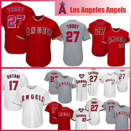 2a1e8e12ba6 Mens Los Angeles Baseball Jersey Angels 27 Mike Trout 17 Shohei Ohtani Jerseys  size m-xxxl