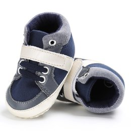 Wholesale Canvas High Shoes Australia - New Casual Kids Children Shoes High Quality Baby Shoes Mother Care Leisure Sports Baby Red White Deep Blue