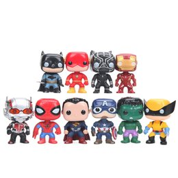 marvel avengers toys Australia - 10cm 10pcs set Justice League & Avengers Figure Set Super Hero Characters Model Vinyl Doll Figures Collectible Model Marvel Toys