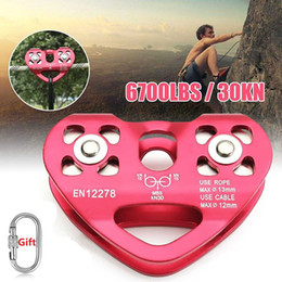 $enCountryForm.capitalKeyWord Australia - 1pcs Rock Climbing Pulley Fixed Sideplate 30KN Sheave Pulley Outdoor Survival Tool High Altitud Traverse Hauling Gear