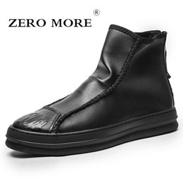 $enCountryForm.capitalKeyWord Australia - ZERO MORE Mens Boots Fashion Spring Solid Back Zipper Design Shoes Men Lace Up Solid Black Ankle Boots Men Pointed Toe Men