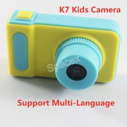 $enCountryForm.capitalKeyWord Australia - K7 Kids Camera Mini Digital Kids Camera Cute Cartoon Camera 1080P Toddler Toy Children Best Birthday Gift Support Multi-Language
