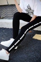 Cotton Thin Woman Trouser Australia - 2019 Korean version of the autumn new large size Slim was thin ins leggings wear trousers women's cotton