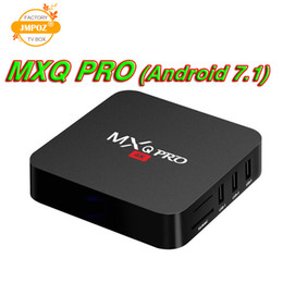cheap android player NZ - MXQ PRO 4K Android 7.1 TV Set-top Boxes RK3229 Quad Core 1GB 8GB Smart Tv Box 2.4G WiFi Cheap Media Player