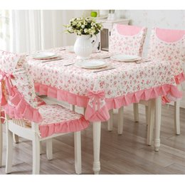 Wholesale 9 Pieces set Tablecloths With Chair Covers Mats Embroidered Tablecloth Linen For Table Wedding Home Coffee Table Cloth Cover Y19062103