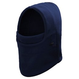 $enCountryForm.capitalKeyWord Australia - Unisex Winter Thicken Polar Fleece Thermal Hood Full Face Neck Mask Solid Color Windproof Hat Cover Adjustable Outdoor Cycling