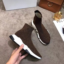 Socks Mix Shoes Australia - Fashion Socks Boots Designer Knitted Elastic Boots Large Code35-46 Breathable Brand Short Boots Lovers Shoes for Men and Women