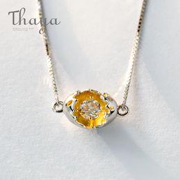 $enCountryForm.capitalKeyWord Australia - Thaya Gold Cocoon-break Pendant Necklaces 925 Silver Pure Zircon Diamond Box Chain Link Necklace Women Elegant Jewelry '39+4cm' J190611