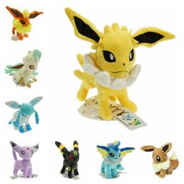 EEvEE figurE online shopping - 20CM Pikachu Plush Toys Pikachu Umbreon Eevee Espeon Jolteon Vaporeon Flareon Glaceon Leafeon Soft Stuffed Dolls Figures Toys