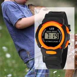 kids digital sports watch Australia - Children Boy Girls LED Digital Electronic Watches Student Sport Kids Watch Fashion Waterproof Child Gift WristWatch