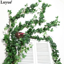 $enCountryForm.capitalKeyWord Australia - Cheap Artificial & Dried Flowers 190 CM Length Artificial Ivy Leaves Garland Wall Hanging Home decor Simulation Plants Vine Fake