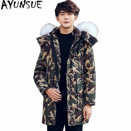$enCountryForm.capitalKeyWord Australia - AYUNSUE Fashion Warm White Duck Down Jacket Men Real Wool Fur Collar Mens Parkas Thick Winter Coat Female Hooded Jackets WXF419 T190912