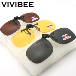 c4d8b8951173e Flip Up Clip on Sunglasses Men Polarized Yellow Lens Night Vision Women  Driving Sun Glasses with Case Male Oculos myopic Clips