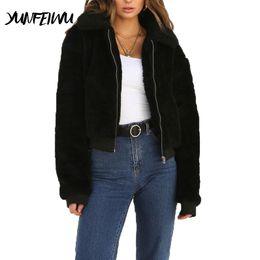 Plus Size Faux Fur Clothes Australia - Women Clothing Faux Fur Teddy Coat Winter Warm Thick Coat Jacket Female Casual Zipper Plush Streetwear Outerwear Plus size