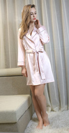 Blue Shirt For Wedding Australia - Robes for Brides Wedding Sleepwear Silk Robe Casual Bathrobe Rayon Long Sexy Nightgown