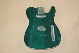 Wholesale Special Price Transparent Green Electric Guitar Body With Body Binding,Can be customized as your request