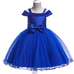 BaBy girl wedding frock online shopping - 2019 Summer Kids Dresses For Girls Princess Dress Elegant Baby Girls Frock Patterns Flower Girl Net Wedding Party Dress