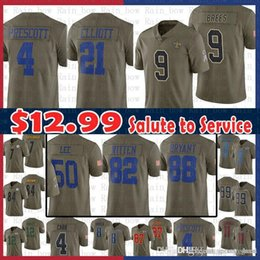 8f9b86013 sale 21 Ezekiel Elliott 4 Dak Prescott New Orleans Saints 9 Drew Brees  Dallas Jersey Cowboys 2017 Salute to Service 50 Sean Lee Witte Bryant