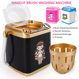 $enCountryForm.capitalKeyWord Australia - Drop Ship Multifunction Mini Makeup Brush Powder Puff Washing Machine Simulation Toys Pretend Kid Play Electric Cleaner Tool