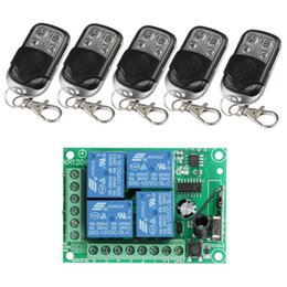 $enCountryForm.capitalKeyWord Australia - Universal Wireless 433Mhz Remote Control Switch DC12V 4CH relay Receiver Module and 5pcs 4 channel RF Remote 433 Mhz Transmitter