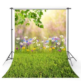 Discount vinyl photography backdrops spring - Vinyl Photography Backgrounds Spring Flowers Tree Lawn Sunlight Scenery Decor Children Backdrop for Photo Studio