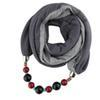$enCountryForm.capitalKeyWord Australia - New design style hijab scarf mix color matching beads pendant ladies scarf jewelry necklace scarf free shipping