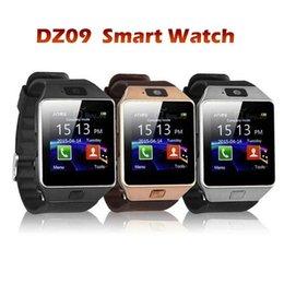 Bluetooth Smart Watch Sim Australia - Latest DZ09 Bluetooth Smart Watch For HTC Samsung Android Phone Camera SIM Slot