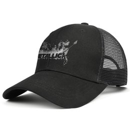 $enCountryForm.capitalKeyWord Australia - Grand Metallica Background black men truck driver plaid hat cool fit golf sports retro team fashion personalized cap