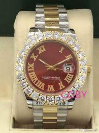 $enCountryForm.capitalKeyWord Australia - 3A luxury men's mechanical watch men's high-end brand date red face diamond watch men's automatic 3A sapphire 18k44mm sports