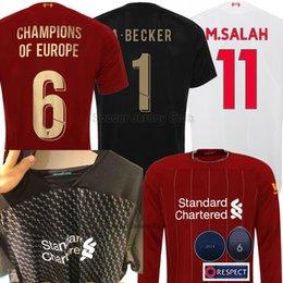 7ae71e01b 19 20 SALAH FIRMINO soccer jersey 6 Cups champions M.SALAH MANE VIRGIL  KEITA ORIGI long sleeve 2019 2020 goalkeeper football kit Shirt sets