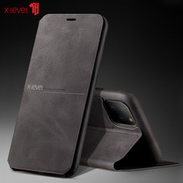 11 books NZ - Extreme Flip Leather Case For 11 Pro XS Max XR X 8 8 6 6S 7 Plus Retro Vintage Business Book Wallet Cover