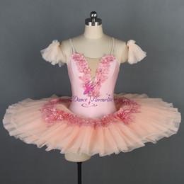 $enCountryForm.capitalKeyWord Australia - Peach Pink Professional Ballet Dance Tutu Girls Classical Ballet Tutus Competition Costume Ballerina Pleated Tutu Dresses BLL069